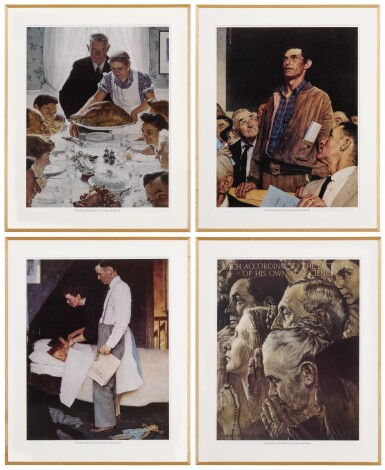 View 2. Thumbnail of Lot 142. The Four Freedoms: 4 prints.