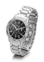 BREGUET   TYPE XX-TRANSATLANTIQUE, REFERENCE 4820, A STAINLESS STEEL CHRONOGRAPH WRISTWATCH WITH DATE AND BRACELET, CIRCA 2000