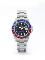 ROLEX | GMT-MASTER REF 16700, A STAINLESS STEEL AUTOMATIC DUAL TIME WRISTWATCH WITH DATE AND BRACELET CIRCA 1993