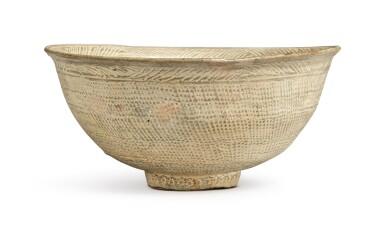 View 1. Thumbnail of Lot 1071.  A PUNCHONG WARE BOWL, KOREA, JOSEON DYNASTY, 15TH / 16TH CENTURY.