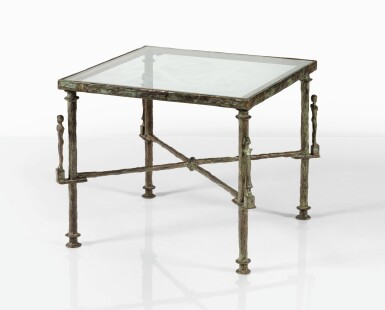 View 1. Thumbnail of Lot 107. DIEGO GIACOMETTI | CARIATIDES TABLE  [TABLE AUX CARIATIDES].