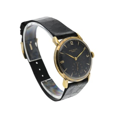 View 3. Thumbnail of Lot 155. PATEK PHILIPPE   REFERENCE 1578 'GM' A YELLOW GOLD WRISTWATCH COMMISSIONED FOR GENERAL MOTORS - GENERAL MOTORS OVERSEAS, MADE IN 1953.