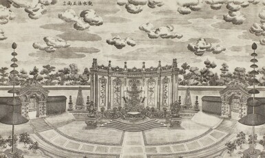 View 11. Thumbnail of Lot 362. A SET OF TWENTY PRINTS OF PALACES, PAVILIONS AND GARDENS AT YUANMING YUAN | 巴黎、1977年 《郎世寧圓明園西洋樓》 一組二十幅 水墨紙本.
