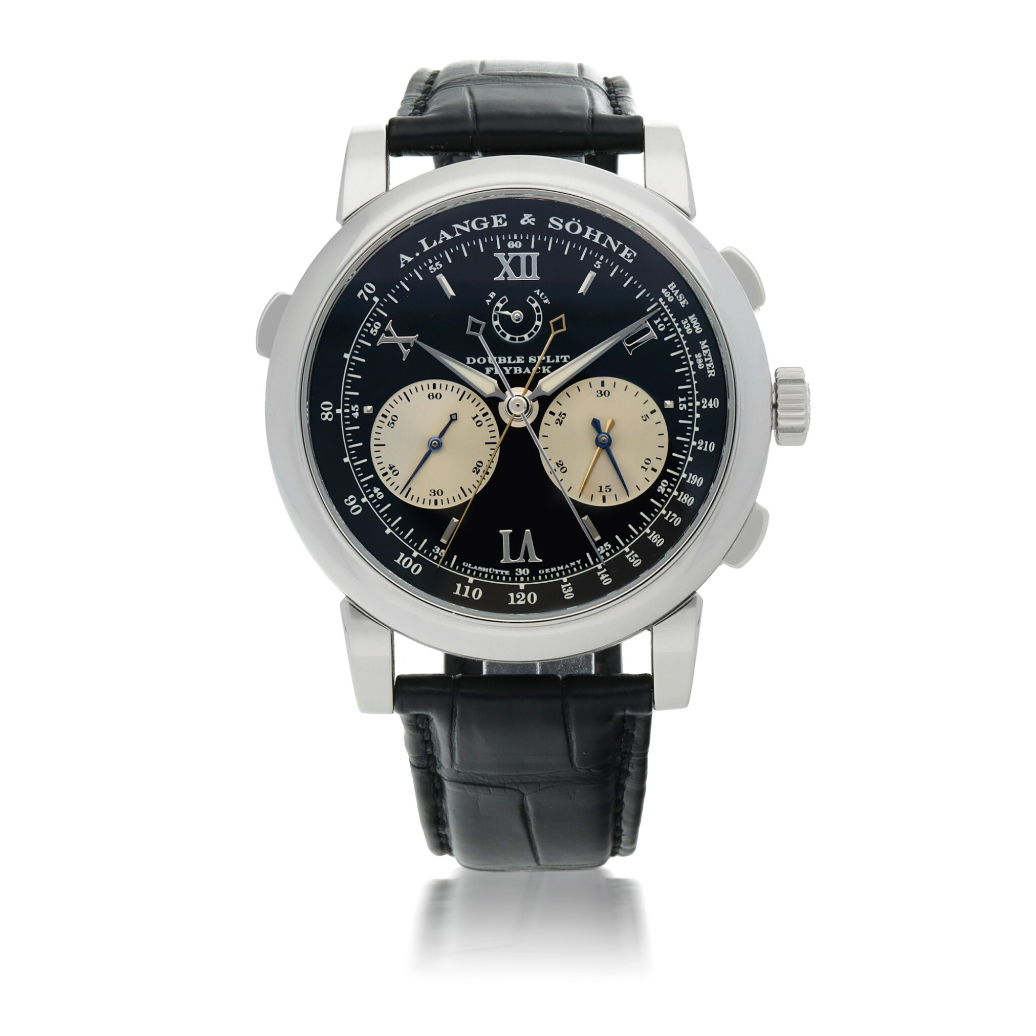 View 1 of Lot 309. DOUBLE SPLIT FLYBACK PLATINUM DOUBLE SPLIT FLYBACK CHRONOGRAPH WRISTWATCH WITH POWER RESERVE INDICATION CIRCA 2015.