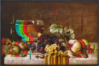 View 1. Thumbnail of Lot 4544. Still Life with Wine Glass and Fruits   靜物與酒杯和水果 .