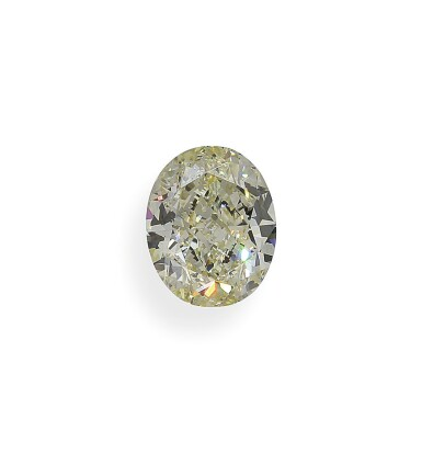 A 3.95 Carat Oval-Shaped Diamond, Y-Z Color, VS1 Clarity