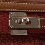 """Hermès Barenia and Toile """"Couvertures et Tenues de Jour"""" Amazone Retourne Kelly 32cm"""