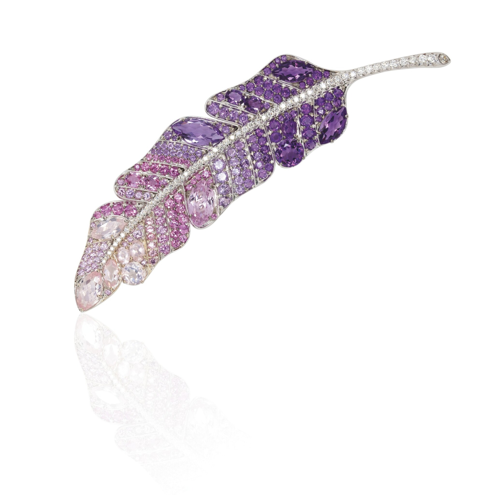 View 1 of Lot 4. GEM SET AND DIAMOND BROOCH, MICHELE DELLA VALLE.