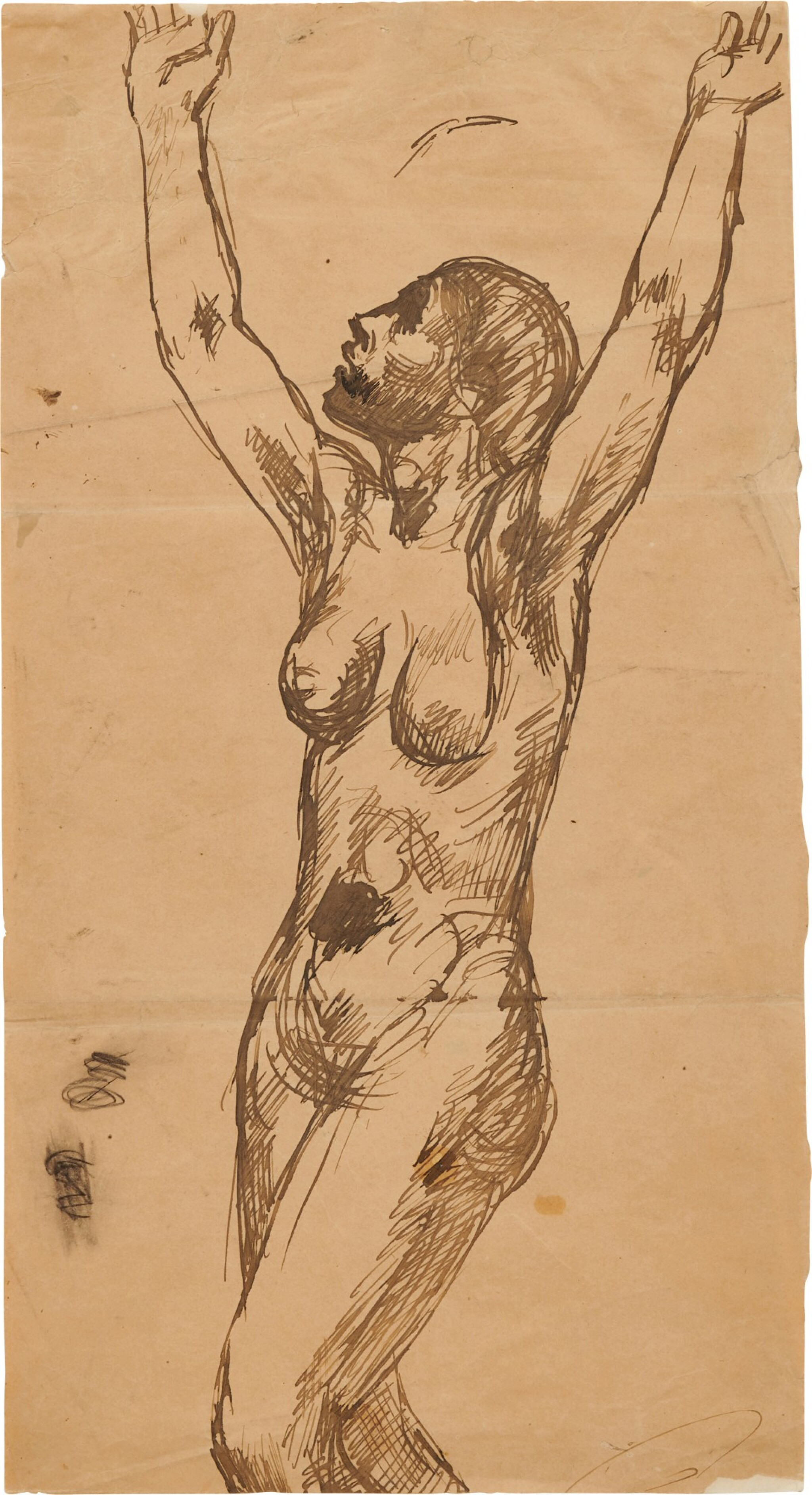 View full screen - View 1 of Lot 33. Femme nue invoquant le ciel.