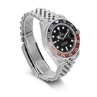 REFERENCE 126710BLRO, GMT MASTER II STAINLESS STEEL DUAL TIME WRISTWATCH WITH DATE AND BRACELET CIRCA 2020