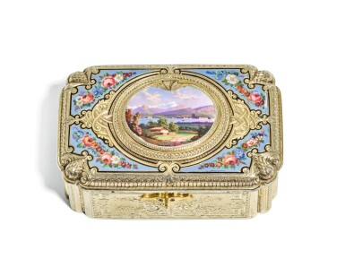 View 2. Thumbnail of Lot 67. A SILVER-GILT AND ENAMEL SINGING BIRD BOX, CHARLES BRUGUIER, GENEVA, MID 19TH CENTURY.