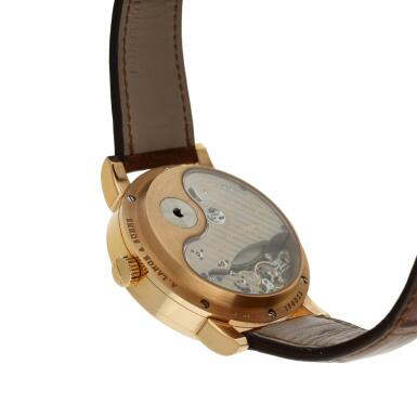View 6. Thumbnail of Lot 294. Reference 130.032F Lange 31  A pink gold wristwatch with date, power reserve and zero-reset mechanism, Circa 2010 .