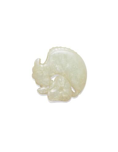 View 1. Thumbnail of Lot 224. Pendentif en jade céladon pâle Dynastie Qing, XIXE siècle | 清十九世紀 青白玉魚紋珮飾 | A pale celadon jade 'fish' pendant, Qing Dynasty, 19th century.