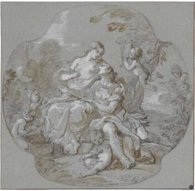 View 1. Thumbnail of Lot 1. CHARLES-JOSEPH NATOIRE | RINALDO AND ARMIDA.
