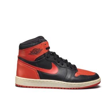 View 6. Thumbnail of Lot 7.  Peter Moore | 'Bred' Nike Air Jordan 1 High OG (1985) | Size 11.5.
