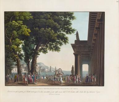 View 4. Thumbnail of Lot 123. Raccolta di varie decorazioni [per la] Scala (c.1830). Reliure romantique attribuable à Thouvenin.