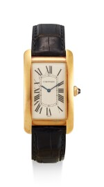 CARTIER   TANK AMERICAINE, REFERENCE 1735, A YELLOW GOLD WRISTWATCH, CIRCA 2000