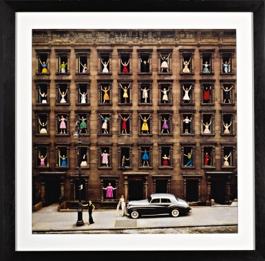 View 2. Thumbnail of Lot 67. Girls in the Windows, New York City.
