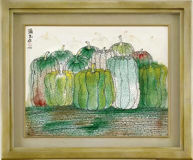 View 2. Thumbnail of Lot 606.  YAYOI KUSAMA 草間彌生   THE SEASON OF PUMPKIN 南瓜季節.