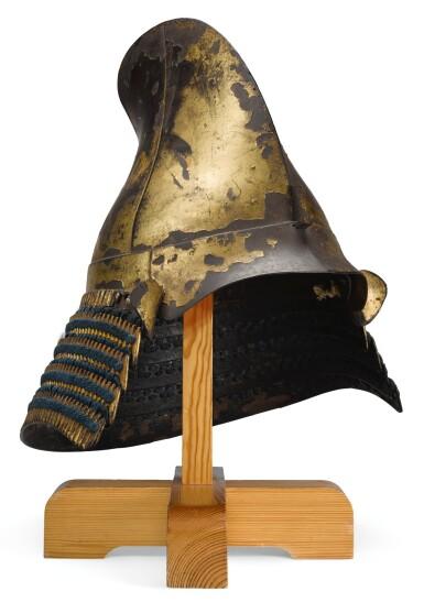 AN EBOSHI-STYLE KABUTO [HELMET], MOMOYAMA PERIOD   LATE 16TH CENTURY