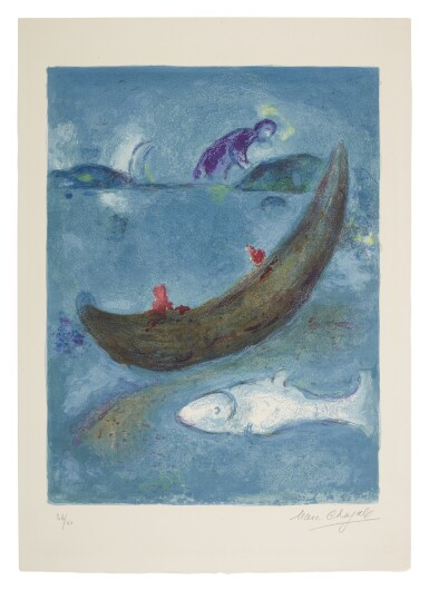 View 1. Thumbnail of Lot 16. MARC CHAGALL | THE DEAD DOLPHIN AND THE THREE HUNDRED DRACMAS (M. 338; SEE C. BKS. 46).