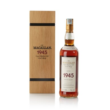 View 1. Thumbnail of Lot 40. The Macallan Fine & Rare 56 Year Old 51.5 abv 1945 .