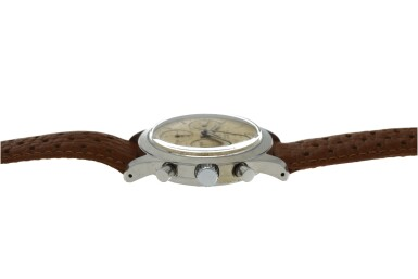 View 5. Thumbnail of Lot 212. RODANIA  | REFERENCE 5621H A STAINLESS STEEL CHRONOGRAPH WRISTWATCH, CIRCA 1965.