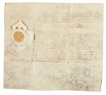 King Charles II, document signed, as Prince of Wales, 1645 with two other documents