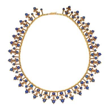 GOLD AND SAPPHIRE NECKLACE, CARLO GIULIANO | 黃金鑲藍寶石項鏈,Carlo Giuliano
