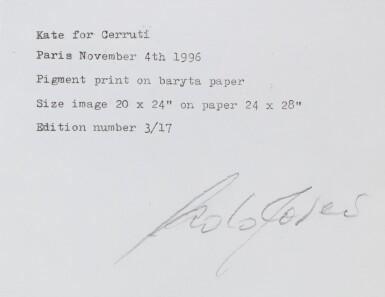 View 4. Thumbnail of Lot 29. Kate for Cerruti, Paris November 4th, 1993.