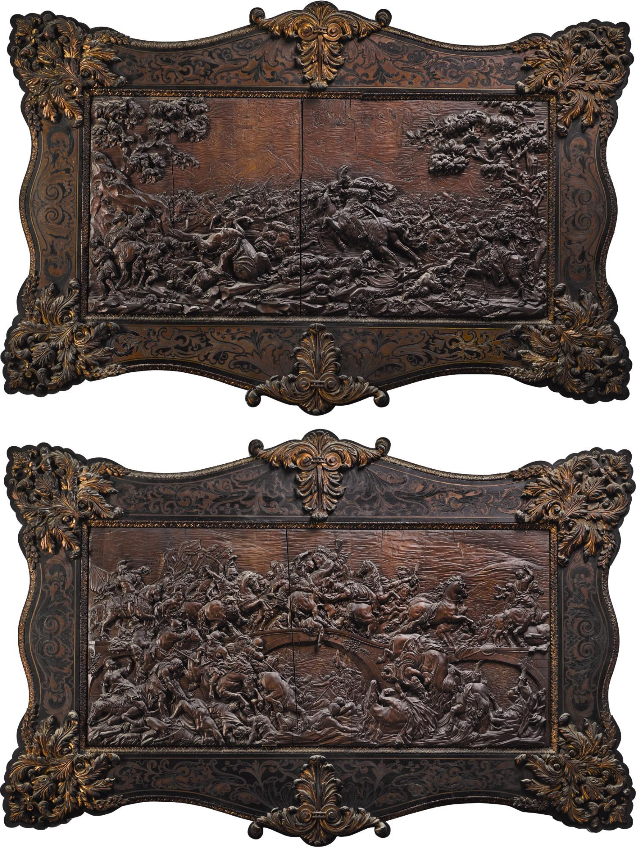 View full screen - View 1 of Lot 10. ANTOINE-MARIE MELOTTE, SOUTHERN NETHERLANDISH, LIÈGE, 1753 | PAIR OF EQUESTRIAN BATTLE SCENES.