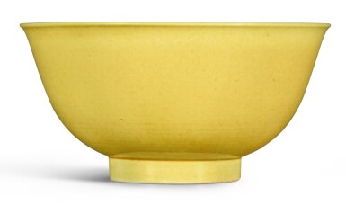A SMALL YELLOW-GLAZED BOWL KANGXI MARK AND PERIOD | 清康熙 黃釉小盌 《大清康熙年製》款