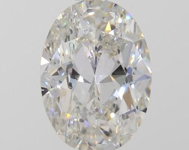A 1.00 Carat Oval-Shaped Diamond, J Color, VS2 Clarity