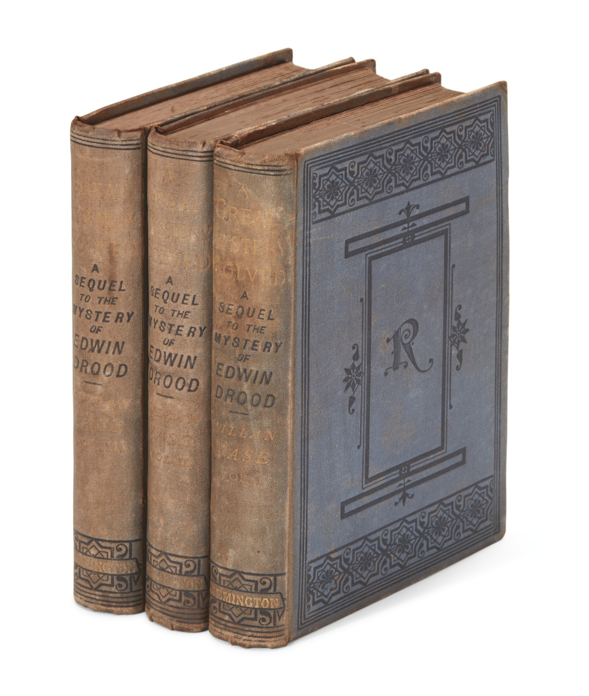 View full screen - View 1 of Lot 219. Vase, A Great Mystery Solved: Being A Sequel to the Mystery of Edwin Drood, 1878, first edition.