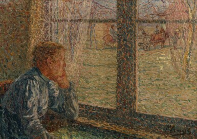 View 1. Thumbnail of Lot 89. Boerin aan het venster (Farmer at the window).