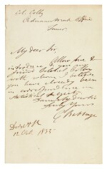 AUTOGRAPH ALBUM | c.460 items including letters by Babbage, Charles Vignoles, and many others