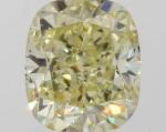 A 1.00 Carat Fancy Yellow Cushion-Cut Diamond, VVS2 Clarity