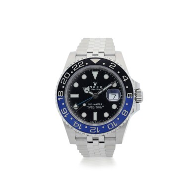 ROLEX | REFERENCE 126710 GMT-MASTER II 'BATGIRL'  A STAINLESS STEEL AUTOMATIC DUAL TIME WRISTWATCH WITH DATE AND BRACELET, CIRCA 2019
