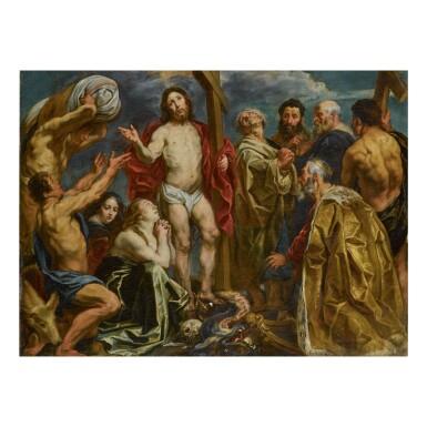 View 1. Thumbnail of Lot 145. JACOB JORDAENS | CHRIST TRIUMPHANT AMONG THE NINE PENITENTS.