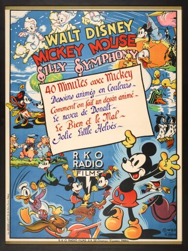 MICKEY MOUSE - SILLY SYMPHONY (1938) POSTER, FRENCH