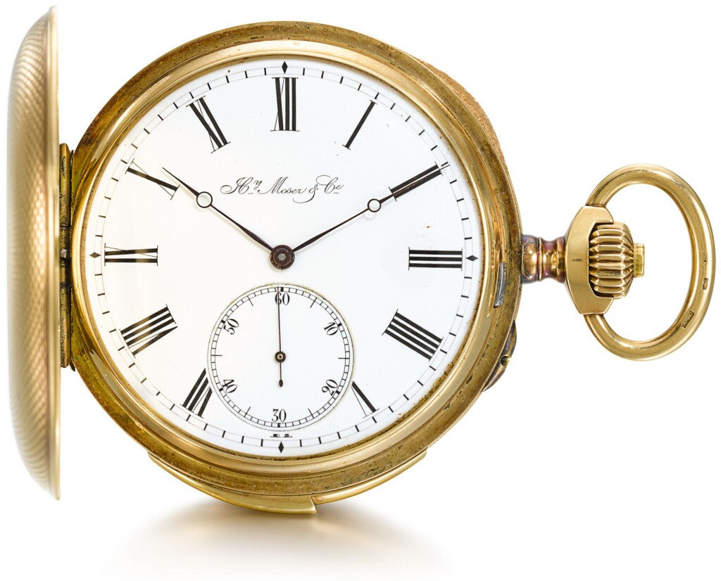 HY MOSER & CIE | A GOLD HUNTING CASED MINUTE REPEATING KEYLESS LEVER WATCH  CIRCA 1900, NO. 25162