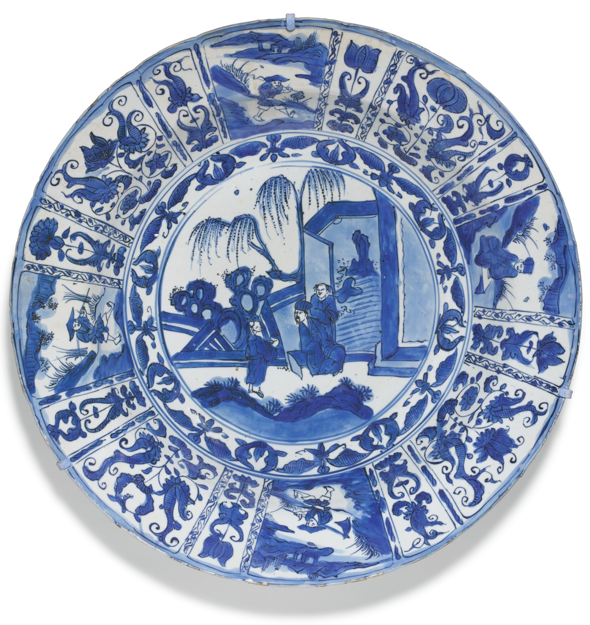 View full screen - View 1 of Lot 14. A LARGE BLUE AND WHITE 'KRAAK' DISH MING DYNASTY, WANLI PERIOD.