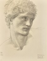 SIR EDWARD COLEY BURNE-JONES, BT., A.R.A., R.W.S. | STUDY FOR THE HEAD OF PERSEUS IN THE ROCK OF DOOM