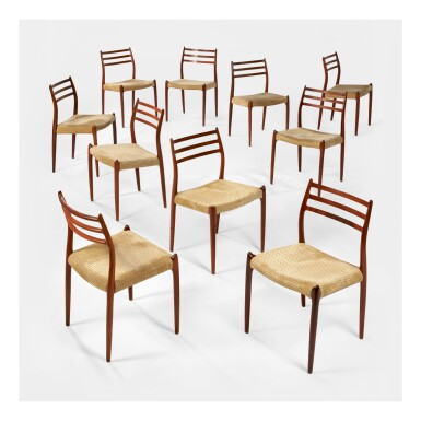 NIELS OTTO MØLLER | SET OF TEN DINING CHAIRS, MODEL NO. 78