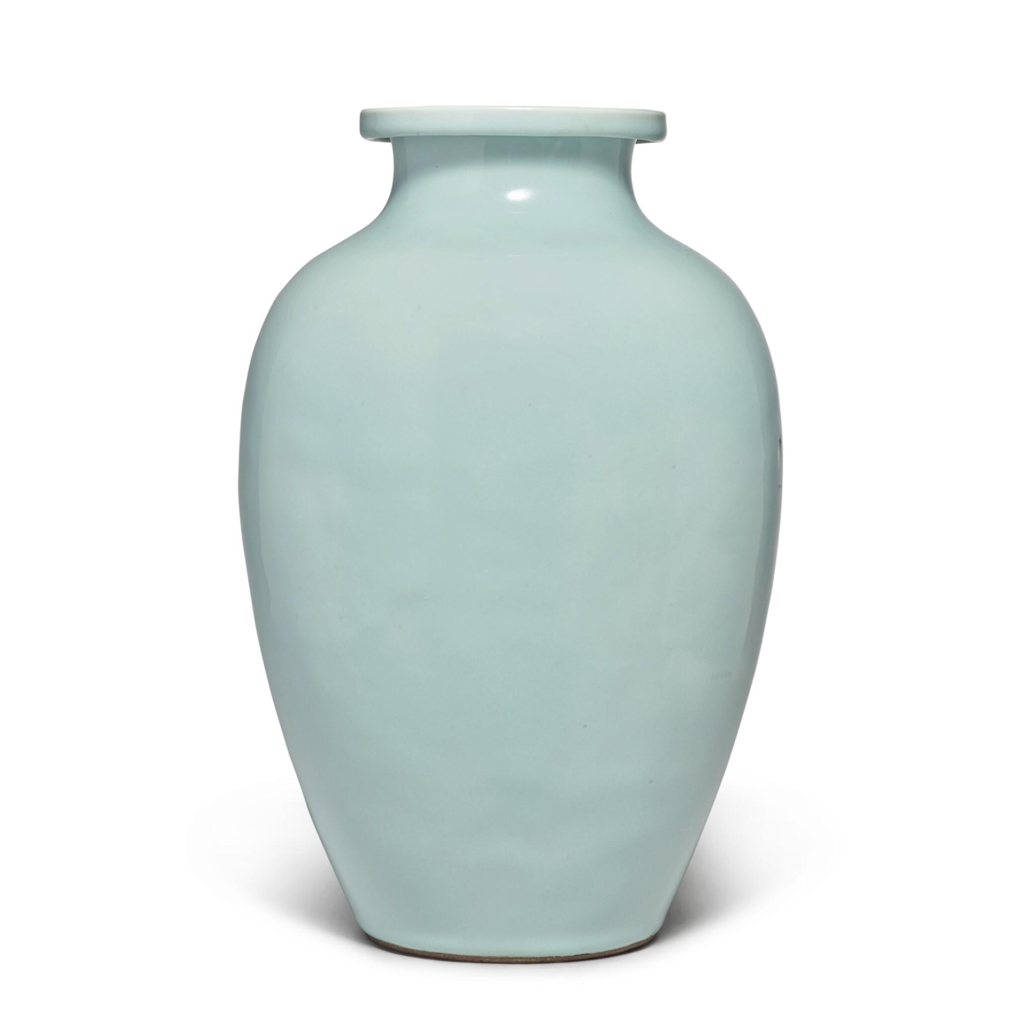 View full screen - View 1 of Lot 82. A Guan-type ovoid jar, Qing dynasty, 18th / 19th century   清十八 / 十九世紀 仿官釉罐.