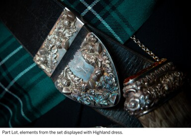 View 10. Thumbnail of Lot 2. The Macleans of Ardgour Regalia: A cased set of Victorian Highland dress accessories, circa 1871, supplied by Millidge & Sons, Edinburgh.
