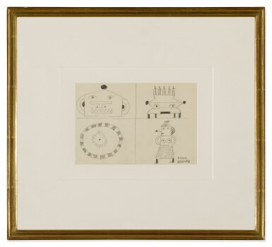 View 2. Thumbnail of Lot 10. VICTOR BRAUNER | FOUR FIGURES.