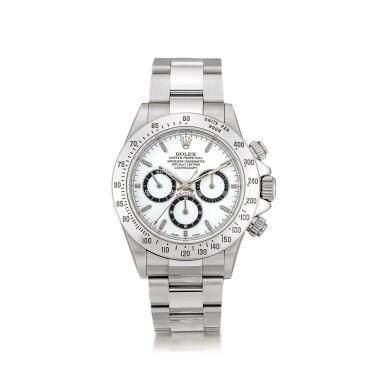 View 1. Thumbnail of Lot 2147. Rolex | Cosmograph Daytona, Reference 16520, A stainless steel chronograph wristwatch with bracelet, Circa 1999 | 勞力士 | Cosmograph Daytona 型號16520    精鋼計時鏈帶腕錶,約1999年製.