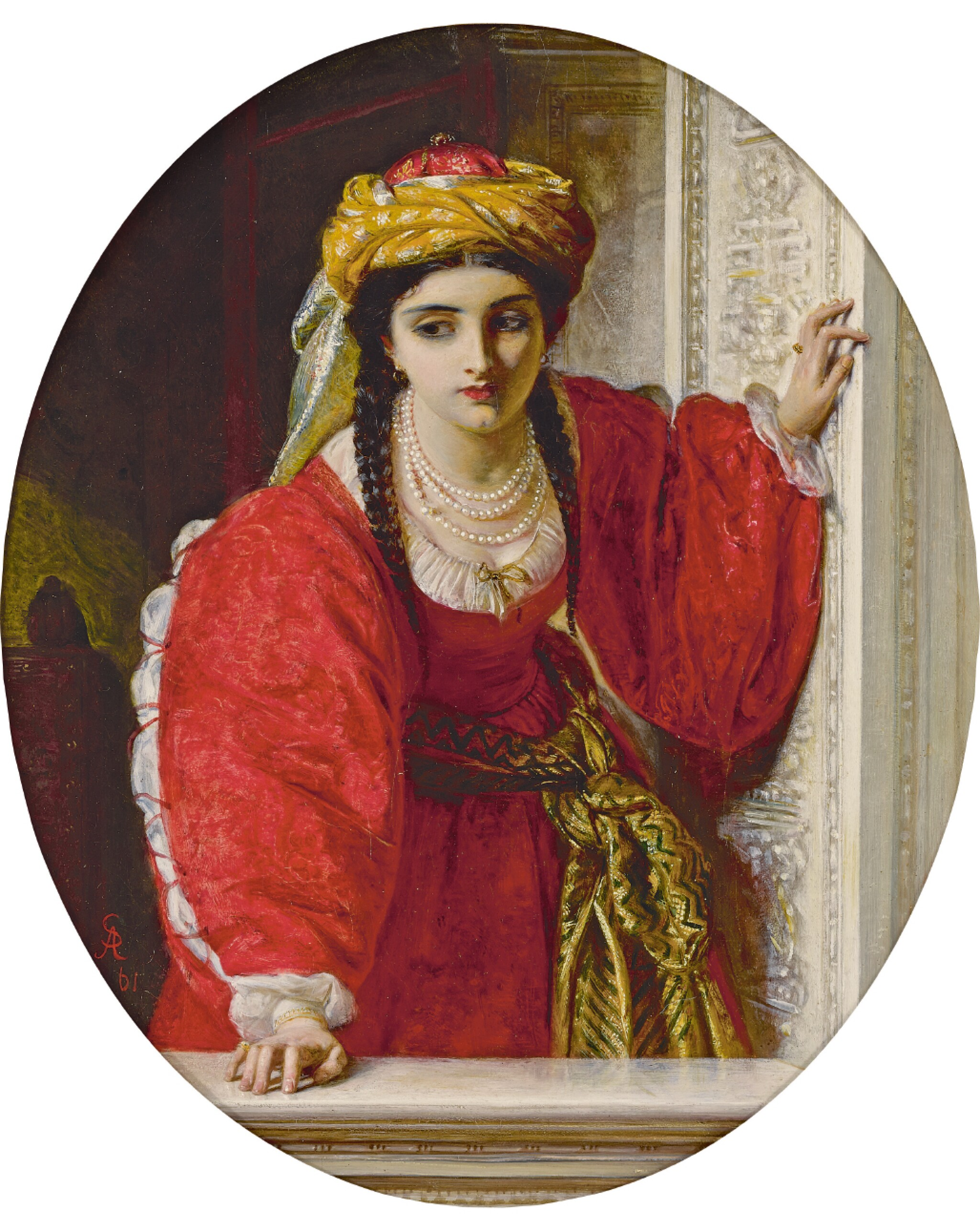 View 1 of Lot 20. ABRAHAM SOLOMON | Juliet at her Balcony.