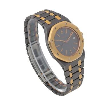 View 3. Thumbnail of Lot 521. Royal Oak, Ref. 14486TR Pink gold and tantalum wristwatch with date and bracelet Circa 1993 | 愛彼 14486TR型號「Royal Oak」粉紅金及鉭金屬鍊帶腕錶備日期顯示,年份約1993.
